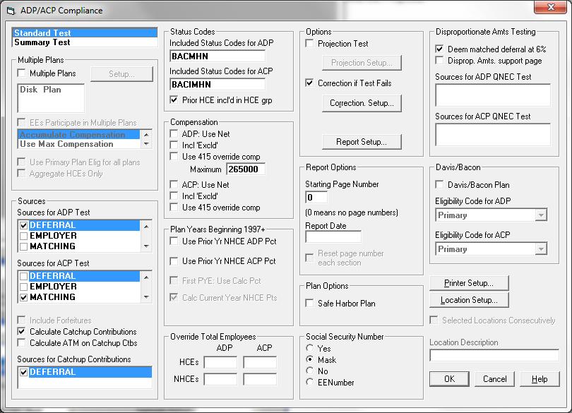 ADP/ACP Compliance Screenshot