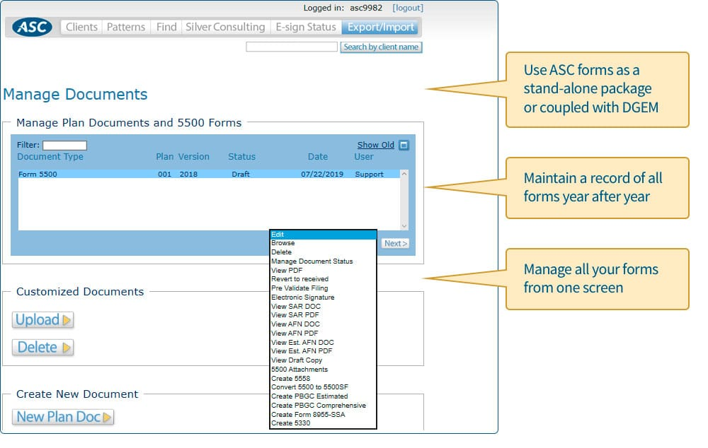 Manage Documents Screenshot